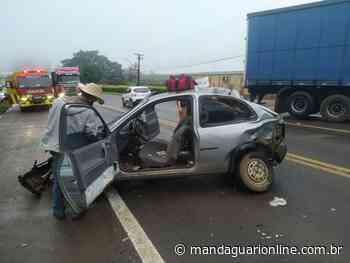 Batida envolve cinco veículos na BR-376 e deixa feridos - Mandaguari Online
