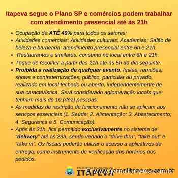Itapeva segue o Plano SP e comércios podem trabalhar com atendimento presencial até às 21h - Jornal Ita News