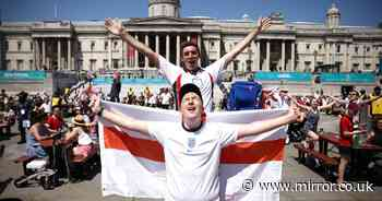England fans go wild after win over Croatia - with special treat for key workers