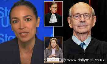 AOC says she's 'inclined' to call on Justice Breyer, 82, to step down from Supreme Court