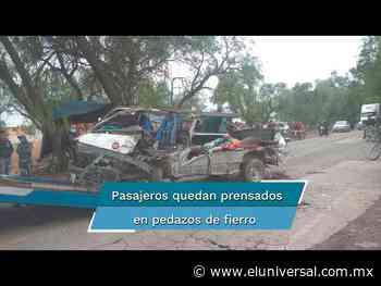 Tráiler embiste combi con pasajeros en Zumpango; hay siete heridos de gravedad - El Universal