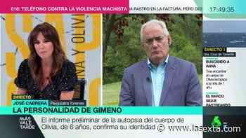 """El psiquiatra forense José Cabrera describe a Tomás Gimeno: """"Es un hombre agresivo, impulsivo, primitivo; - LaSexta"""