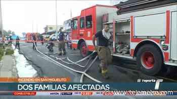 Varias personas resultaron afectadas por un incendio en San Miguelito - Telemetro