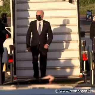 Amerikaans president Joe Biden is geland in Brussel
