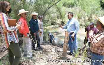 Refuerzan línea de conducción de agua en Las Cruces, Peñón Blanco - El Sol de Durango