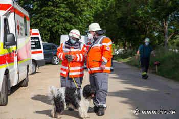 Rettungseinsatz in Gerstetten : Feuerwehr und Rettungshundestaffel suchen nach vermeintlich verschütteter Frau - Heidenheimer Zeitung