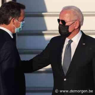 Amerikaans president Joe Biden aangekomen in België