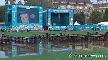 Regen? Kein Problem! Budapester Fanmeile ist bereit für die EM - Euronews