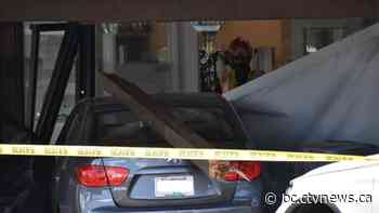 No injuries after car collides with bank building in Langley - CTV News Vancouver