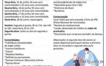 Calendário da Primeira Dose da Vacina contra Covid-19 - O Dia