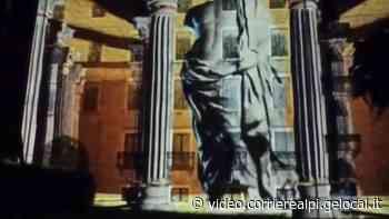 il Videomapping sulla facciata del Vescovado Nuovo in centro a Feltre - il Corriere delle Alpi