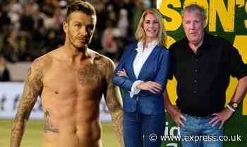 David Beckham leaves Jeremy Clarkson's girlfriend flustered after buying milk from farm - Express