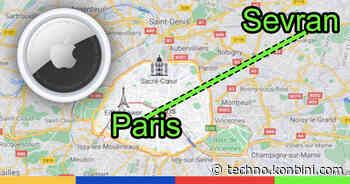 Comment mon AirTag a voyagé tout seul de Paris à Sevran - Konbini France