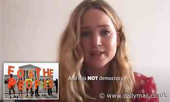 Jennifer Lawrence warns of Republicans working to pass stricter voting restrictions in YouTube PSA