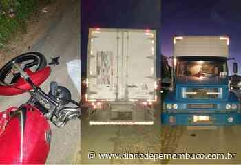 Motociclista morre ao ser atingido por caminhão em Pombos - Diário de Pernambuco