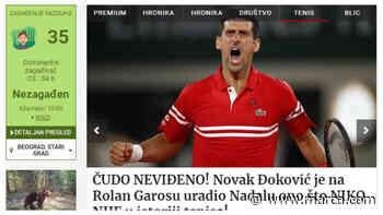 """La prensa serbia habla de """"paso de gigante"""" de Djokovic para ser el mejor de la historia - MARCA.com"""