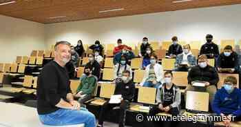Collège Simone-Veil : Pascal Bresson présente sa BD « Simone-Veil, l'Immortelle » aux élèves de 3e - Le Télégramme