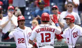 Kyle Schwarber's homers back Joe Ross in Nationals' shutout over Giants