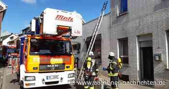 Erneut Feuerwehreinsatz in Alsdorf: Zwei Personen aus Mehrfamilienhaus gerettet - Aachener Nachrichten