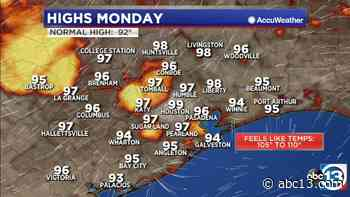Houston Weather: Near record heat Monday, monitoring tropical low in the Gulf - KTRK-TV