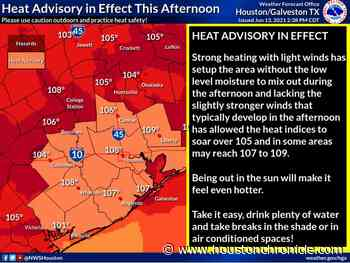 Heat advisory in effect for Houston region - Houston Chronicle