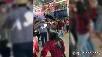 Alunos de escola particular de Teresina se aglomeram em quadrilha junina; vídeo - G1