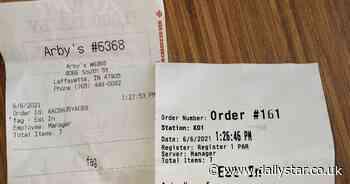 Fast food worker says homophobic slur on customer's receipt was 'computer glitch' - Daily Star