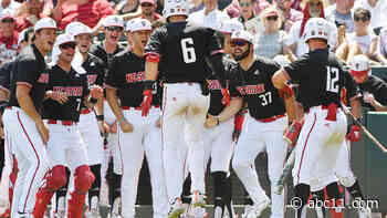 NC State knocks off No. 1 seed Arkansas 3-2, advances to College World Series