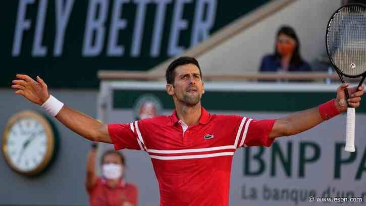 Novak Djokovic rallies from two sets down to win French Open, 19th Grand Slam title - ESPN