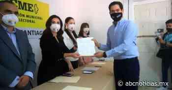 David de la Peña recibe constancia por municipio de Santiago - ABC Noticias MX