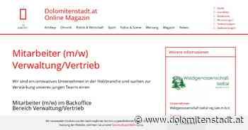 Mitarbeiter (m/w) Verwaltung/Vertrieb   dolomitenstadt - Dolomitenstadt.at