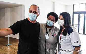 Guilherme Fontes faz aparição raríssima para tomar vacina contra a Covid-19 - QUEM Acontece