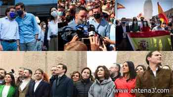Pablo Casado, Inés Arrimadas y Santiago Abascal evitan reeditar la foto de Colón - Antena 3 Noticias