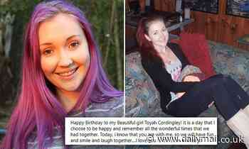 Toyah Cordingley's parents celebrate her 27th birthday three years after she was murdered