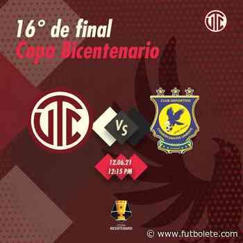 Ver en vivo Comerciantes Unidos vs UTC Cajamarca por la primera ronda de la Copa Bicentenario de Perú - Futbolete