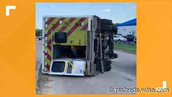 3 MedStar workers, 1 car driver injured in Fort Worth ambulance tipover