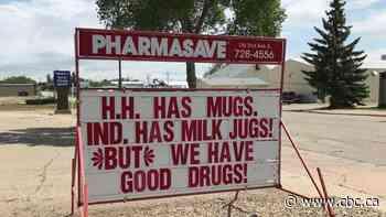 Melville businesses raise community's spirits though punny 'sign war' - CBC.ca