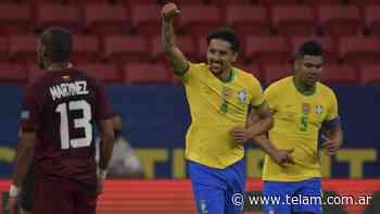 La victoria de Brasil ante Venezuela, minuto a minuto - Télam