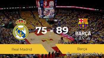 El Barça consigue la victoria frente al Real Madrid por 75-89 - EnCancha.cl