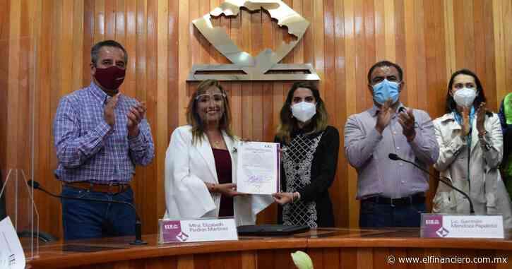 Lorena Cuéllar recibe constancia de mayoría como gobernadora de Tlaxcala - El Financiero