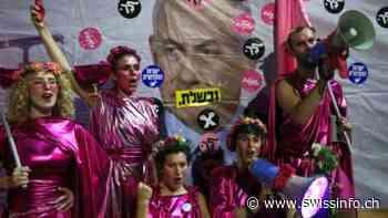 "En Jerusalén, los anti-Netanyahu celebran la ""victoria"" y dicen ""Bibi Ciao!"" - swissinfo.ch"