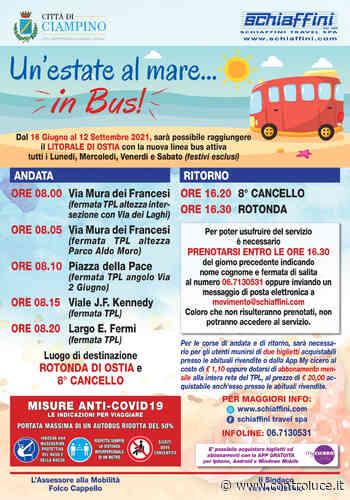 """Ciampino – Torna il bus per il mare, al via la popolare iniziativa """"un'estate al mare… in bus"""" - Controluce Notizia"""