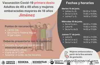 EL MARTES, VACUNACION ANTICOVID EN JIMENEZ - El Monitor de Parral