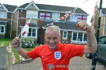 Former Sunderland landlord who painted pub with England flag decorates home ahead of Euro 2020 - Sunderland Echo
