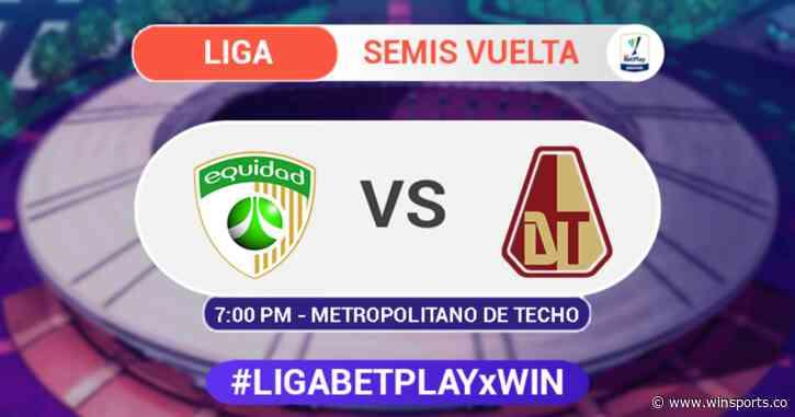 La Equidad vs Tolima - Liga BetPlay - Win Sports