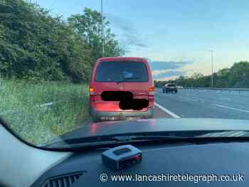 Driver wanted for 7 offences by neighbouring police force arrested on M6