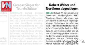 Robert Weber und Nordhorn abgestiegen - Vorarlberger Nachrichten | VN.AT