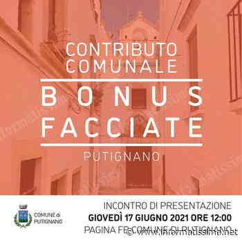 Putignano – Contributi Comunali per tinteggiare a costo zero le facciate del centro storico - Putignano Informatissimo