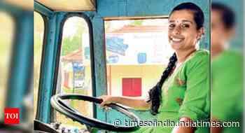 Girl blazes trail with hazardous goods tanker - Times of India