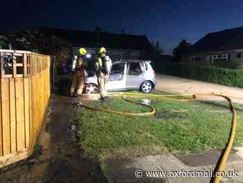 Early morning Witney car fire 'treated as arson'